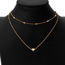 EDS  Pendant Necklace For Women Gold Silver Long Chain Necklace Vintage Layered Necklace Women Fashion Jewelry
