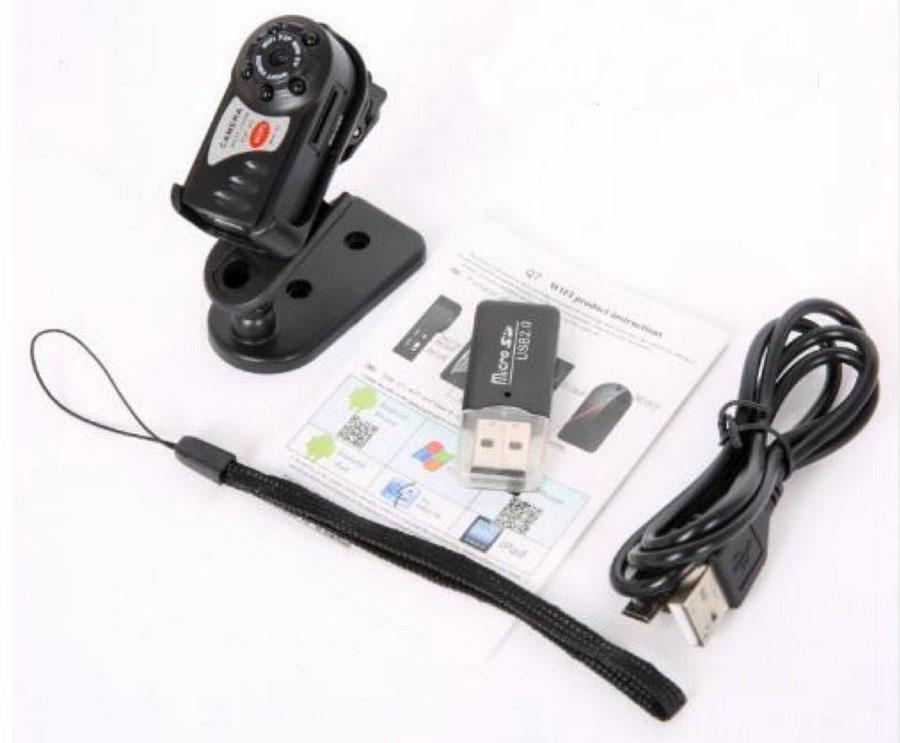 50 шт. Q7 WiFi IP мини-камера ИК Ночное Видение P2P Беспроводная микро-камера Дистанционное управление видео Espia Candid для iPhone Android