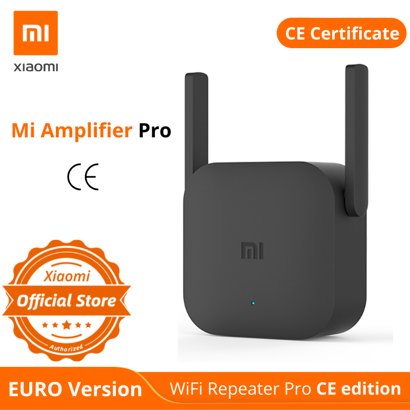 EURO Version Xiaomi Mi WiFi Repeater Pro CE Edition 300M Amplifier Network Expander Router Power Extender Roteador 2 Antenna