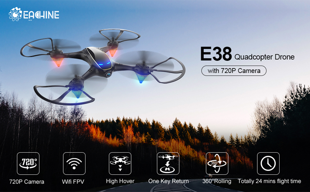 Eachine E58 WIFI FPV RC Quadcopter Drone With Wide Angle 1080P Camera and Hight Hold System 6