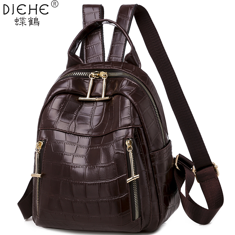 Fashion Lady Backpack PU Leather Women Backpack Waterproof School Bags For Teenager Girls Mochila Rucksack Luxury Shoulder Bags