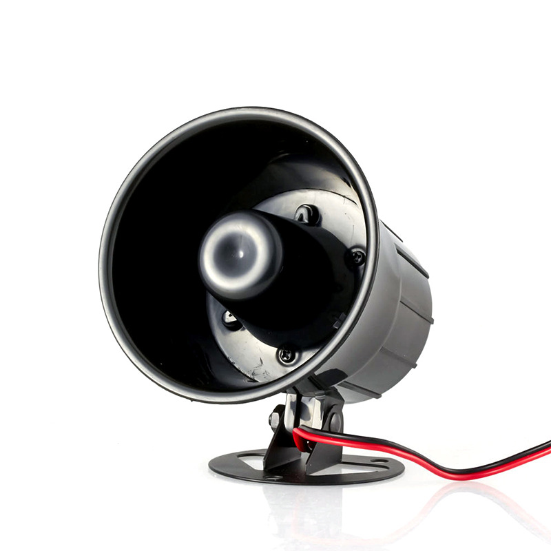 High Quality 12V 110db Black Burglar Alarm Host Wired Sound Siren Anti-theft High Decibel Horn Home Security Alarm Loudspeaker