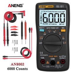 AN8002 Digital Multimeter 6000 counts digital multimeter profesional capacitor tester esrmeter richmeters inductance meter