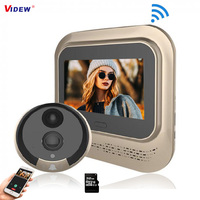VIDEW 4.3 인치 1080P 도어 틈 구멍 뷰어 Wifi 비디오 초인종 카메라 야간 투시경 PIR 모션 감지 스마트 홈 APP 제어