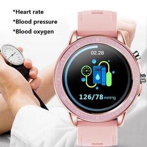 Image 3 - SENBONO reloj inteligente S02, reloj inteligente deportivo con control del ritmo cardíaco y de la presión sanguínea y del oxígeno en la sangre, reloj de seguimiento de Fitness