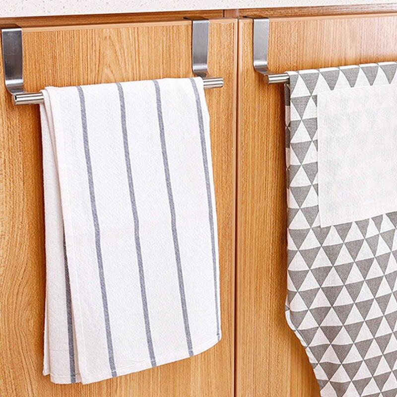 puerta Toallero multifuncional plegable para cocina gancho de PVC y pl/ástico azul con 5 ganchos para colgar en el armario