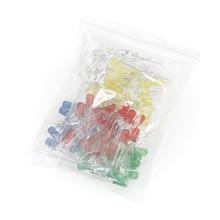 100 pçs/lote F5 5mm DIODO EMISSOR de Luz Diodo LED Assorted Kit DIY branco Quente Verde Azul Vermelho Laranja Amarelo Rosa Cor UV