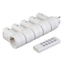5 беспроводной пульт дистанционного управления переключатели Розетка розетки электрические вилки адаптеры с пультом дистанционного управления ЕС