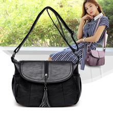 YILIAN 2019 New Single Shoulder Bag Euro-American Fashion Soft Leather Slant Womens X2075