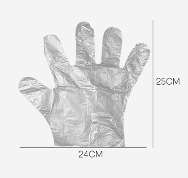 Disposable Gloves One-off Food Plastic Fruit Gloves Restaurant BBQ Transparent Eco-friendly PE Gloves Kitchen Garden Accessories 1