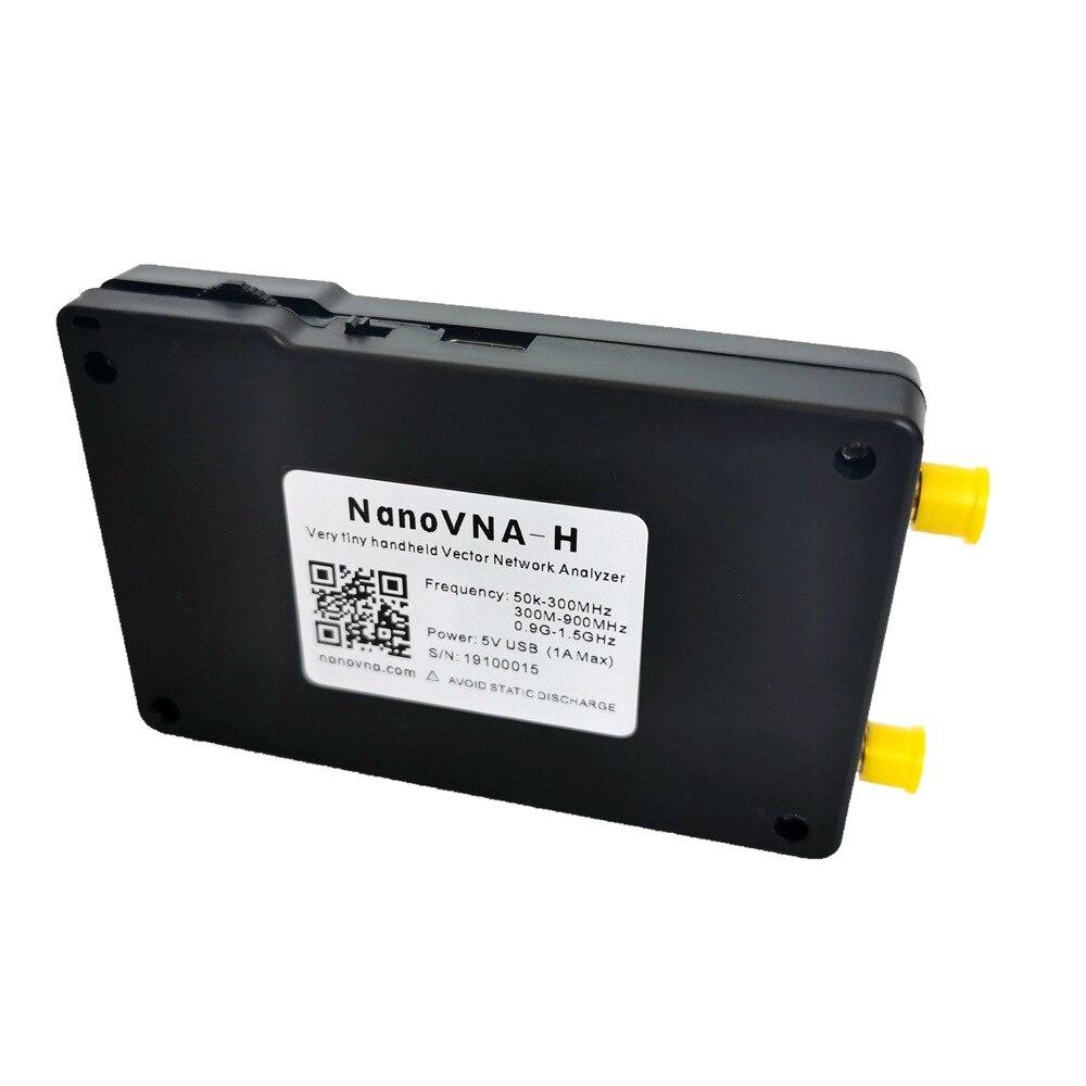 NanoVNA-H Vector Network Analyzer 50KHz~1.5GHz Nano VNA Shortwave HF VHF UHF UV Antenna Analyzer + Battery + LCD + Plastic Case