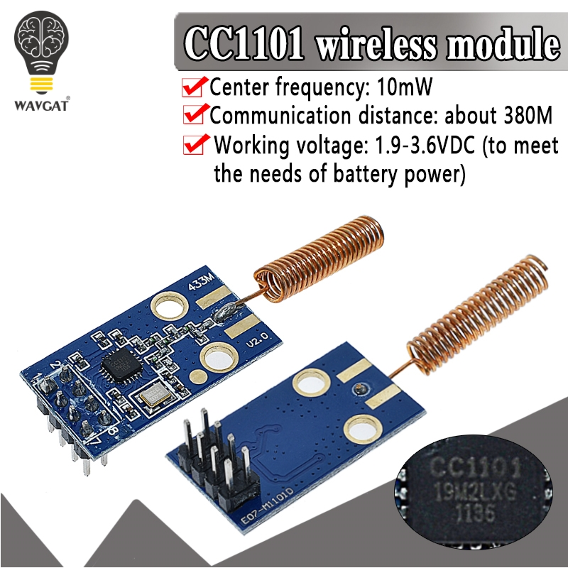 CC1101 Wireless Transceiver Module 433MHz 2500 NRF Distance Transmission Board OOK ASK MSK Modulation Programable Control 2500