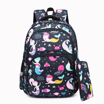 New Fashion Cartoon School Bags Backpack for Girls Boys Mermaid Design Children Orthopedic Backpack Mochila Infantil Grade 1--4 1