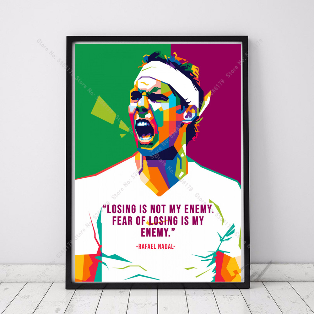 Nt572 Poster Prints New Rafael Nadal Top Tennis Player Sports Star Wall Art Canvas Oil Painting Picture Living Home Room Decor Painting Calligraphy Aliexpress