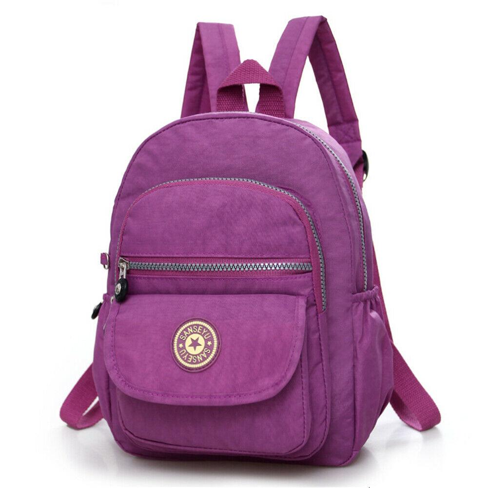 Повседневное женский рюкзак с защитой от краж с простой твердой колледж Стиль школьная сумка Мода Дорожная сумка для путешествий - Цвет: Light Purple