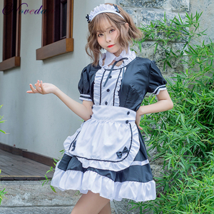 Crossdressing Halloween Costumes For Men Women Plus Size Sissy Maid Uniform Anime Cosplay Sweet Gothic Lolita Dress(China)