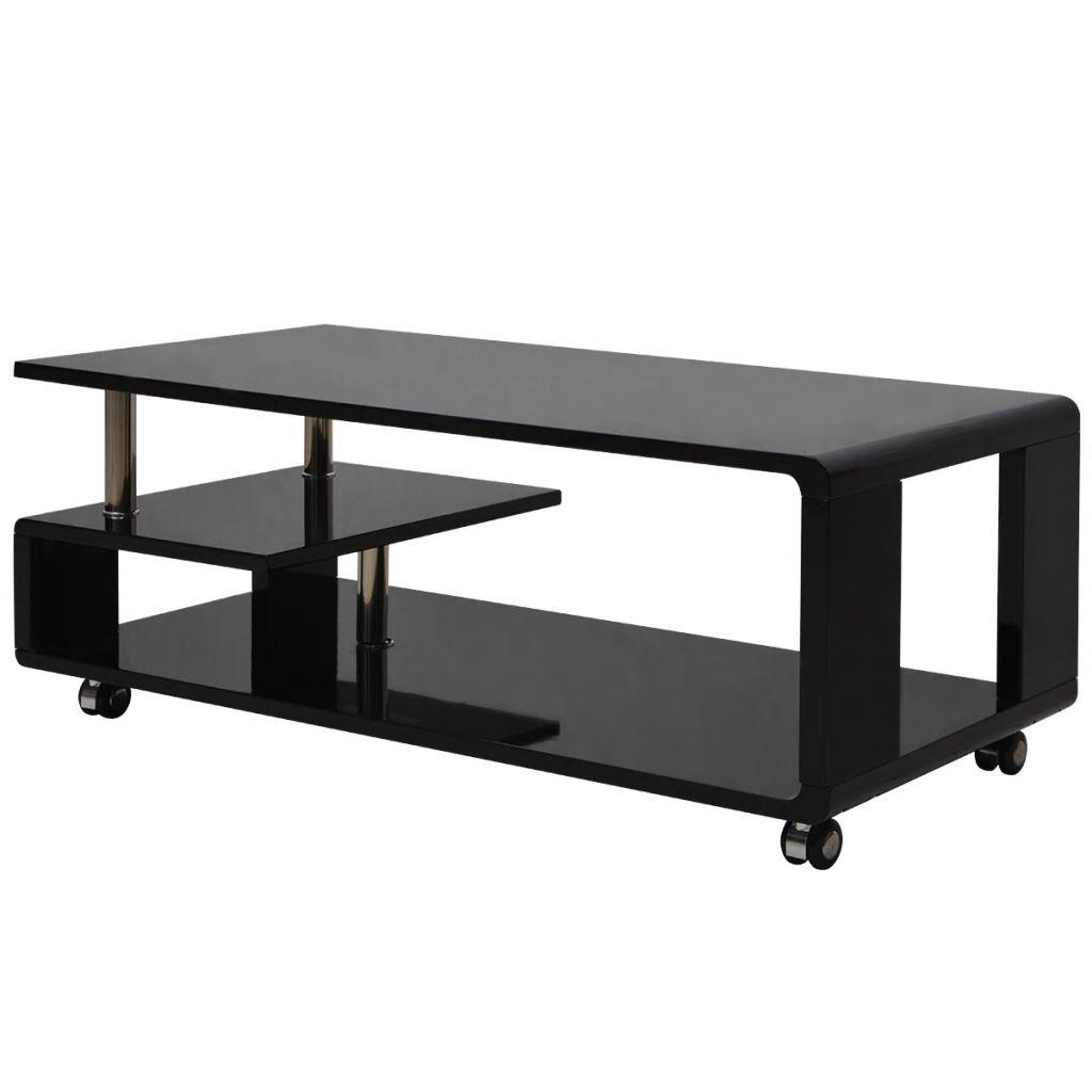 VidaXL High Gloss Coffee Table Black