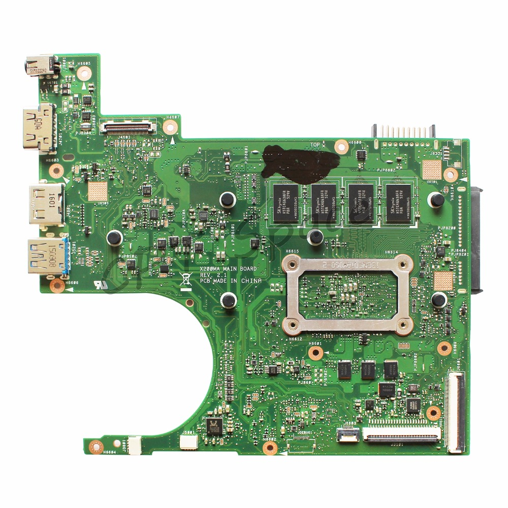 Calvas X200MA Motherboard REV2.1 N2920//N2930 2gb For ASUS K200MA F200M laptop Motherboard X200MA Mainboard test 100/% OK