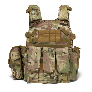Tactical Vest Military Combat Body Armor Mens Army Hunting Vest Plate Carrier Airsoft 094K Pouch Combat Gear Outdoor CS Training 3