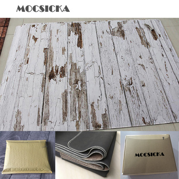 Mocsicka Rubber Floor Photo Background Floor Customize Printed Vintage Wood Newborn Baby Backdrop Anti-slip Rubber Backed Mat
