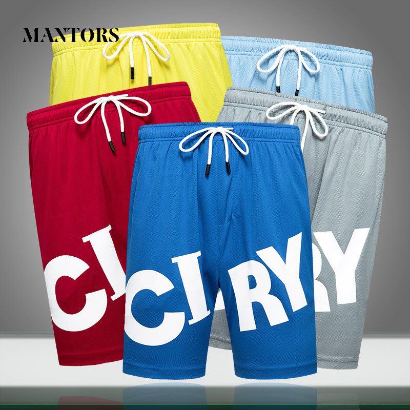2020 Summer New Men Shorts Loose Gym Jogging Bodybuilding Letter Printing Short Pants Mens Quick Dry Beach Shorts Breathable
