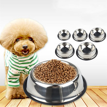 New Dog Cat Bowls Stainless Steel Travel Footprint Feeding Feeder Water Bowl For Pet Dog Cats Puppy Outdoor Food Dish 4 Sizes new dog cat bowls stainless steel food bowl travel feeding feeder water bowl anti skid dry food pet bowl drinking water dish
