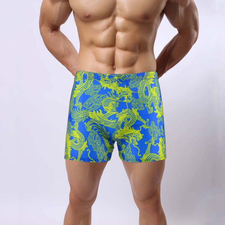 Printed Swimming Trunks AussieBum Fei Yue Brand Swimming Trunks Top Grade Men's Swimming Trunks Bathing Suit 909