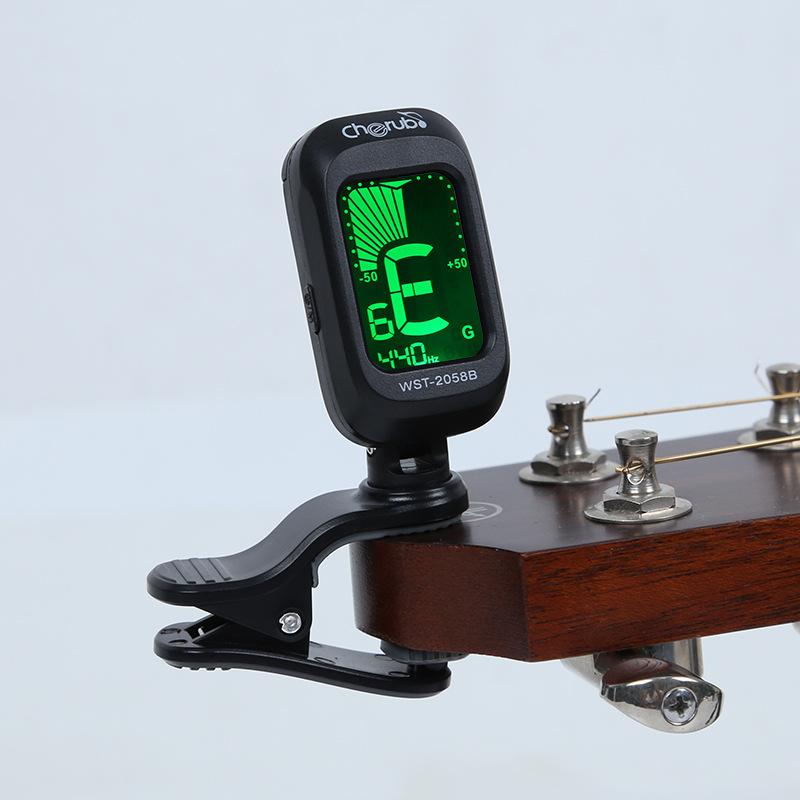 Folk Acoustic Guitar Tuner Violin Ukulele Bass Electronic Tuning Tuner Stringed Musical Instrument Accessories Guitar Bass Tuner