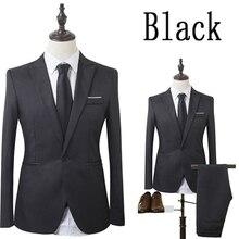 Zogaa haute qualité costume d'affaires nouveaux hommes d'affaires mince ensembles robe de mariée costume Blazers manteau pantalon gilet pantalon XS-3XL