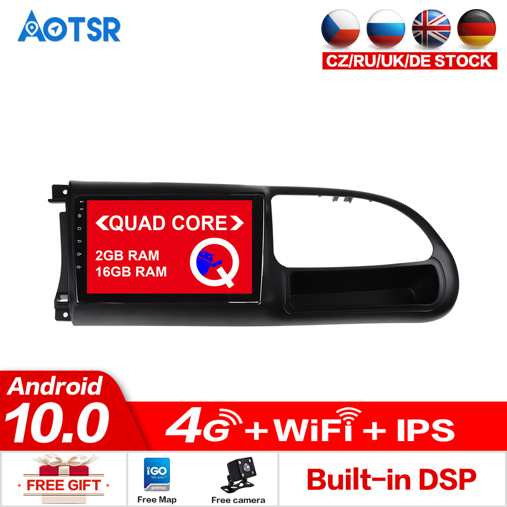 AOTSR Android 10.0 Car <font><b>GPS</b></font> For <font><b>Ford</b></font> <font><b>Transit</b></font> 2010-2016 Car Tracker Bluetooth Player 1 din Head Unit Navigation Stereo Radio dsp image