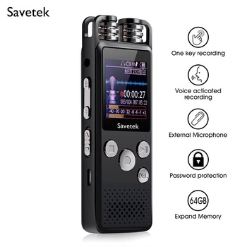Professional Voice Activated Digital Audio Voice Recorder 8GB 16GB 32G USB Pen Non-Stop 80hr Recording PCM Support TF-Card 1