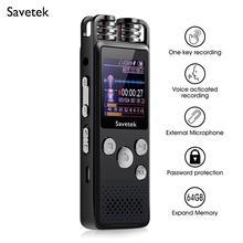 Профессиональный цифровой аудио диктофон с голосовой активацией, 8 ГБ, 16 ГБ, 32 ГБ, USB ручка, запись без остановки, 80 часов, PCM, поддержка TF карты
