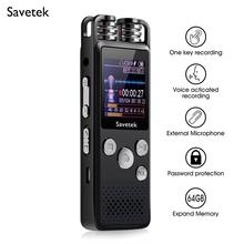 Professional Voice Activated Digital Audio Voice Recorder 8GB 16GB 32G USB Pen Non Stop 80hr Recording PCM Support TF Card