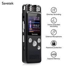 Profesjonalne aktywowana głosem cyfrowy Audio dyktafon 8GB 16GB 32G USB Pen non-stop 80hr nagrywania PCM wsparcie TF karty