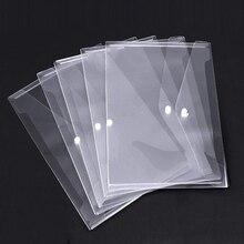Poly Carpeta de sobres con cierre de botón a presión, sobres de plástico transparente de calidad Premium, 30 Uds impermeable transparente proyecto Env