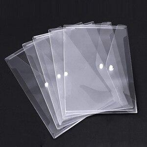 Image 1 - Poly Envelope Folder with Snap Button Closure, Premium Quality Clear Plastic Envelopes,30 Pcs Waterproof Transparent Project Env