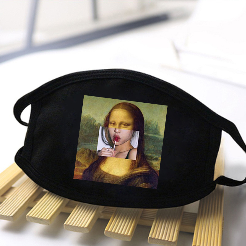 Mona Lisa Sword Art Online Print Anti Dust Masks Washable Protective Face Mouth Muffle Reusable Soft Breathable Respirator Maske