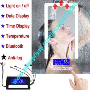 Image 1 - K3015CBF 터치 스위치 패널 시간 날짜 온도 디스플레이 안티 안개 화장실 욕실 캐비닛 LED 라이트 미러 재생