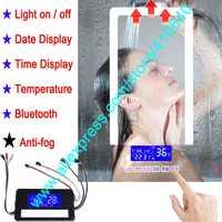 K3015CBF Touch Switch Panel Time Date Temperature Display Anti Mist FOR Washroom Bathroom Cabinet LED Light Mirror Refurbishment