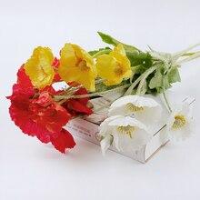 1pcs Artificial Poppy Silk Flowers Home Party Decoration Fake Poppy Flowers For Garden Decor Artificielles Flower Wreath 2020