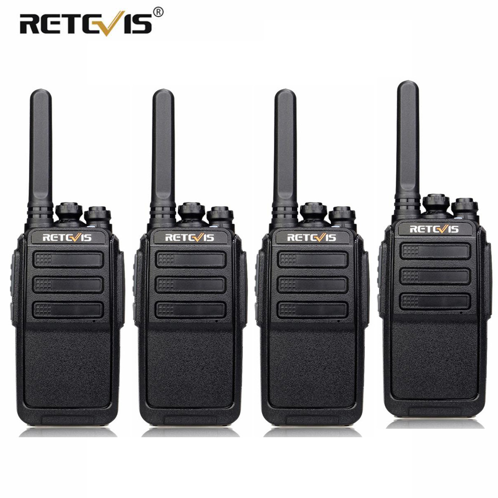 4 PCS RETEVIS RT28 Walkie Talkie PMR Radio VOX PMR446/FRS Micro USB Charging Portable Mini Two Way Radio Station Transceiver