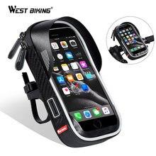 West biking Водонепроницаемая велосипедная сумка мобильный телефон