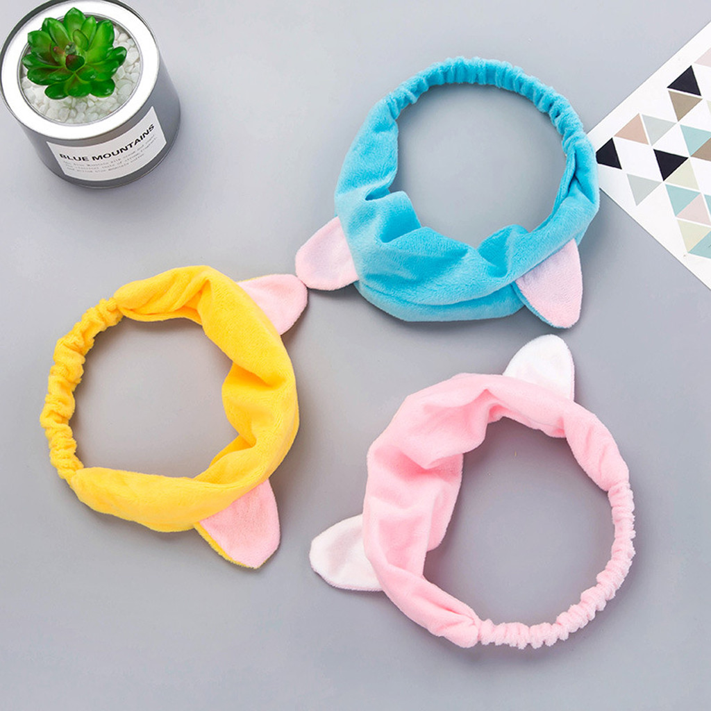 Sweet Cute Cat Ears Hair Band Sports Makeup Face Towel Headband Hair Band Headband Bangs Hair Accesorios Mujer Headband 201915