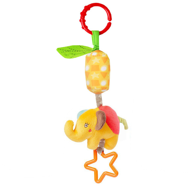 Soft Infant Crib Bed Stroller mobile Hanging Rattle Toys Baby Frog Elephant Owl Cat Toy Trolley 0-12 Newborn Plush Educational
