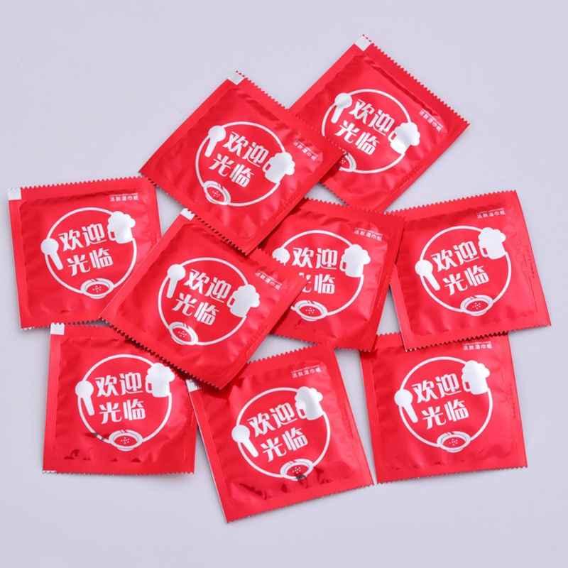 Lucu Cina Kata-kata Dicetak Kreatif Rumit Lelucon Kondom Bentuk Tisu Basah Handuk Minum Individual Dibungkus Dewasa Hadiah Nov.18
