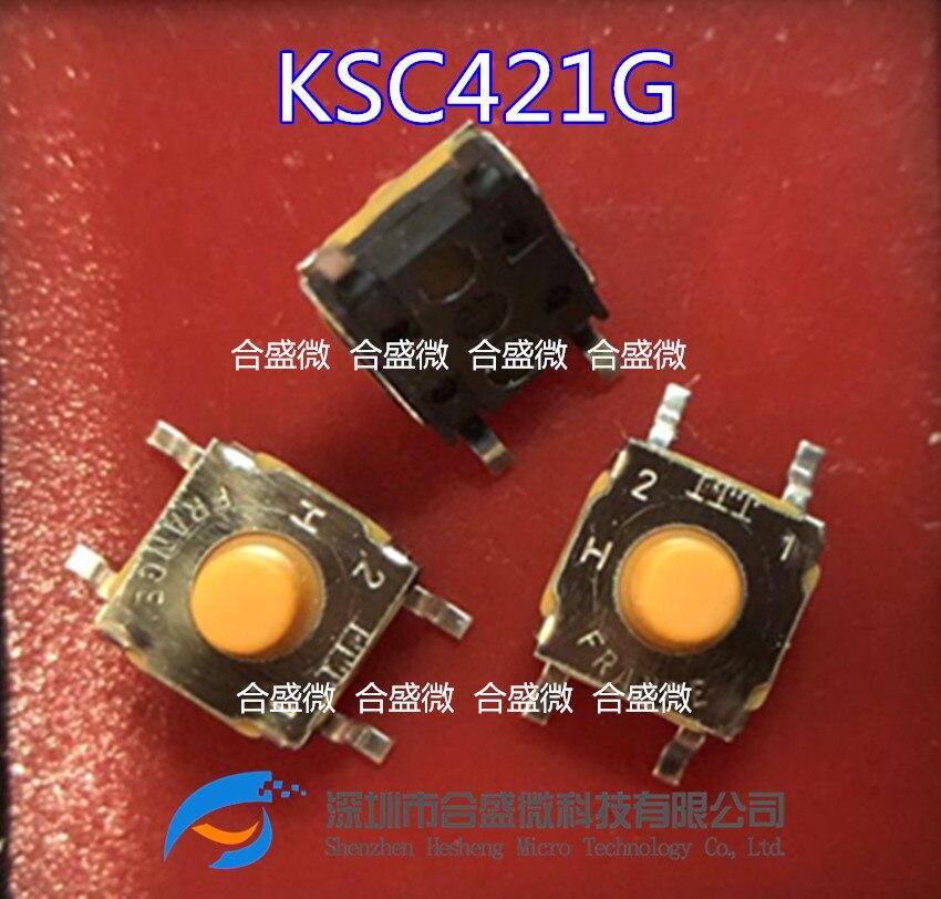 Interruptor macio original de 10 pces ksc421g70shlfs smd 6.2*6.2*5.2
