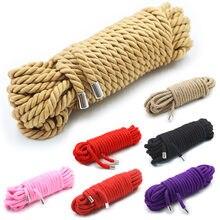 Corde de Bondage japonaise de haute qualité pour lier la contrainte au jeu de rôle d'esclave, accessoire de shibu pour retoucher le plaisir de nouer