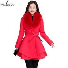 PinkyIsblack New 2020 Autumn Winter Wool Coat Women Long Elegant Wool