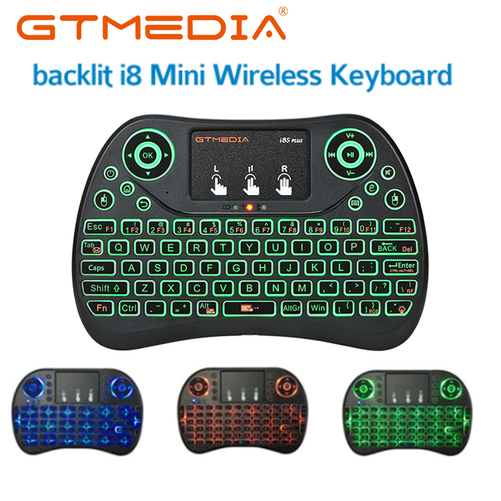 i8 Backlit keyboard English Russian Spanish with Touchpad 2.4G <font><b>mini</b></font> Keyboard Air Mouse For Android TV Box 8.1 X96 max <font><b>Tanix</b></font> <font><b>TX6</b></font> image