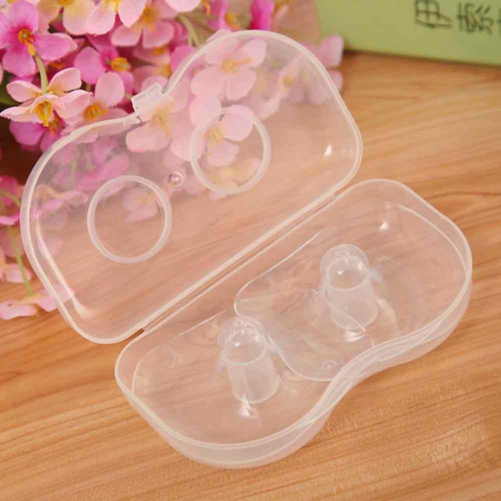 2pcs Silicone Nipple Protectors Breast Milk Feeding Mothers Nipple Shields Protection Cover Breastfeeding Milk Extractor Nipple